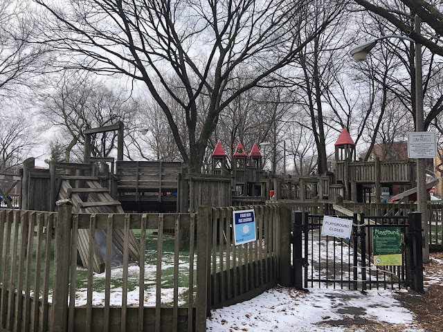 Oz's wonderland includes a large playground full of adventure at Oz Park in Chicago's Lincoln Park.