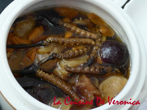 冬蟲草花膠瑤柱燉瘦肉 冬蟲草湯 冬蟲草食譜 La Cuisine De Veronica