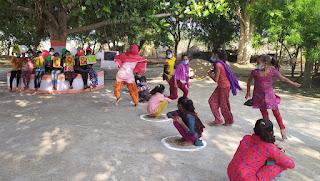 बाल अधिकार दिवस पर चाइल्ड लाइन ने मींगनी में आयोजित कराई गोष्ठी, क्रीडा प्रतियोगितायें
