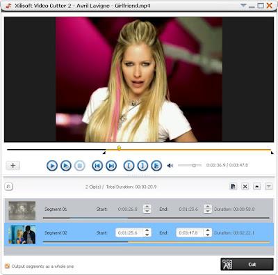 تحميل برنامج Xilisoft Video Cutter لتقطيع الفيديو وأزالة اللقطات الغير مناسبه