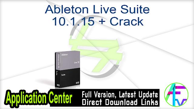 Ableton Live Suite 10.1.15 + Crack