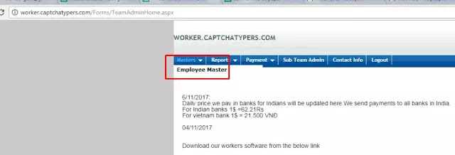 online data entry jobs with captchatypers - Master - Employee Master