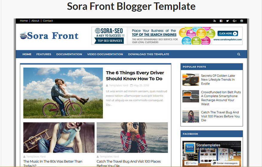 Template for blog