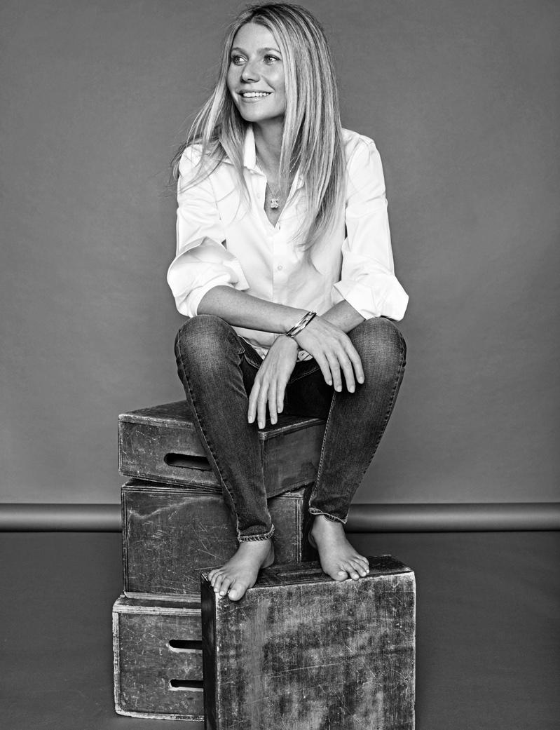 Gwyneth Paltrow on January 2017 ELLE Spain cover by Xavi Gordo