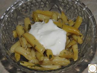 Salata de fasole verde cu iaurt reteta,