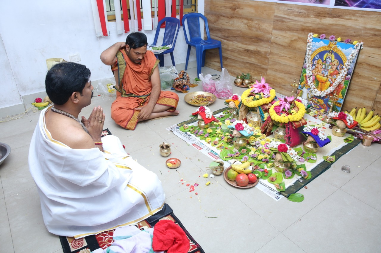 HoneyyGroup Pooja ceremony  On occasion of completing  4 successful years