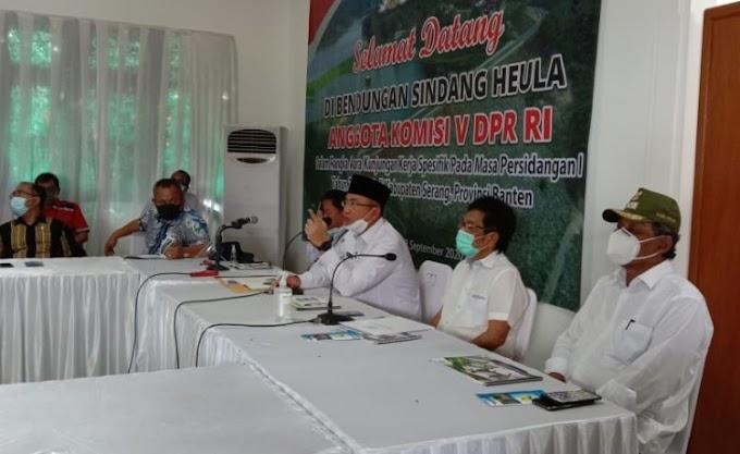 Dampingi DPR Kunker ke Waduk Sindang Heula, Pandji Tirtayasa: Alhamdulillah Mimpi Masyarakat Terwujud