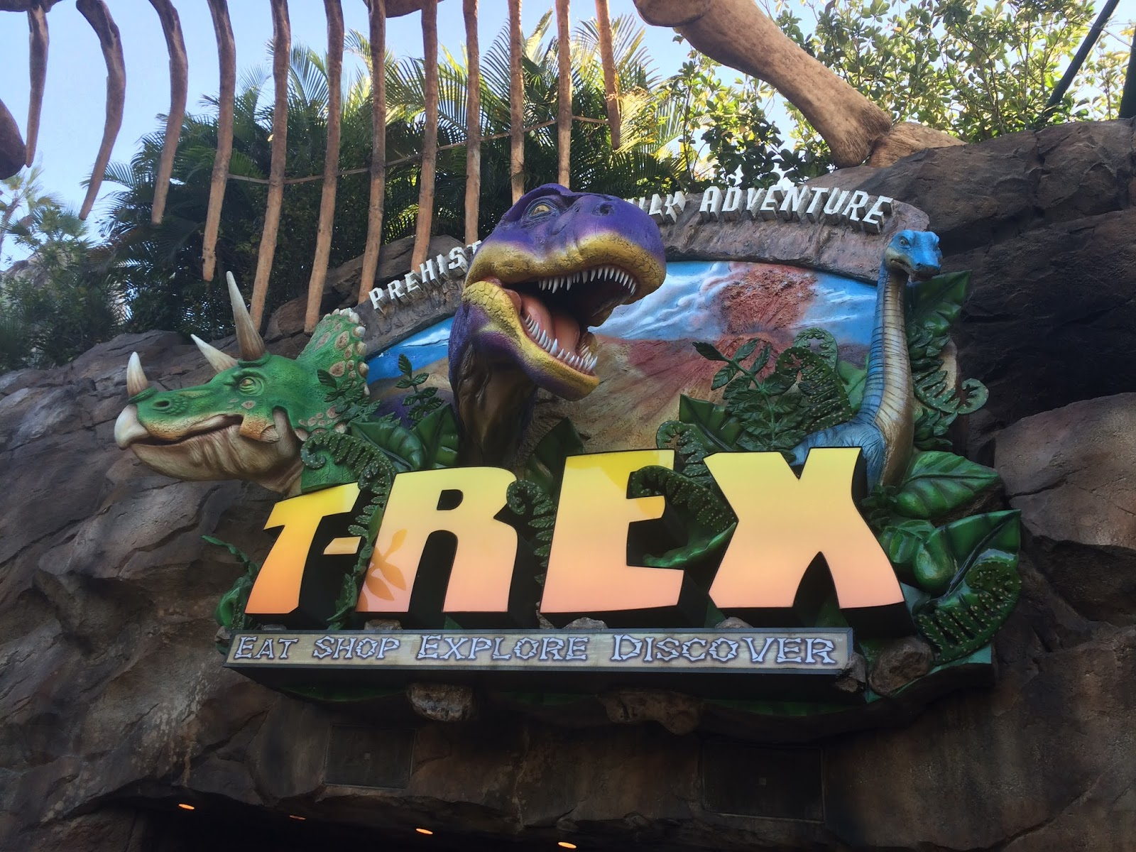 The geology p a g e dinos in pop culture t rex for Restaurant t rex