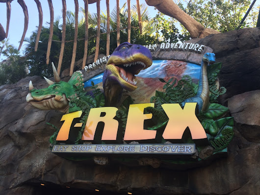 Dinos in Pop Culture - T-REX Restaurant at Walt Disney World