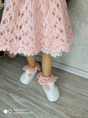 Комплект: платье, сарафан и носочки