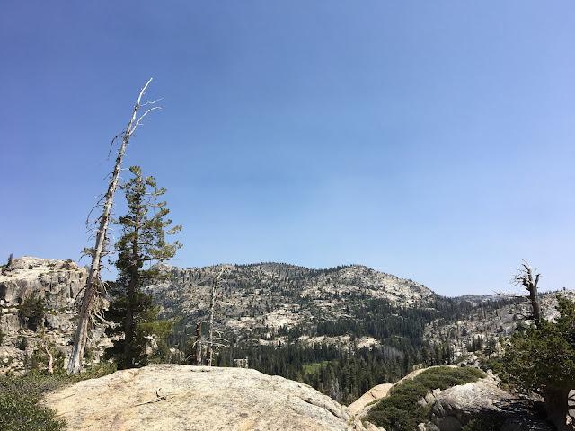 mountainous landscape of exposed white granite