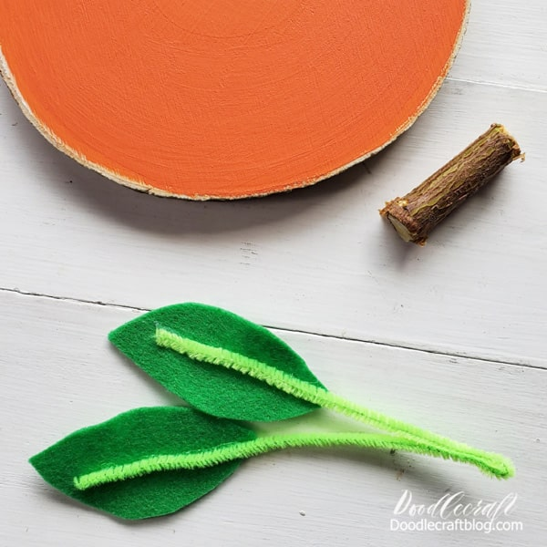 Repeat the hot gluing process for both leaves.