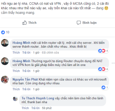 So sánh NAT và VPN trong CCNA và MCSA