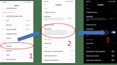 Cara Setting Dark Mode Mode Gelap Android 10 Redmi Note 7