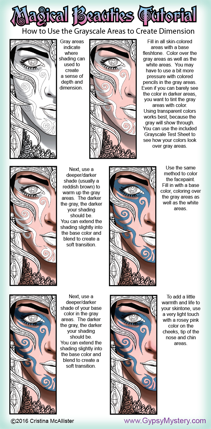 Gypsy Mystery: Magical Beauties Tutorial: How to Use the Grayscale ...