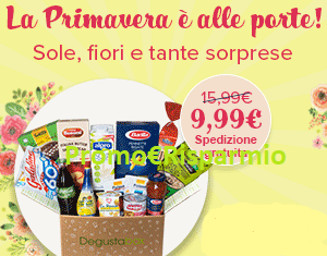 Logo Degustabox offerta del mese: fino a 15 prodotti a soli euro 9,99