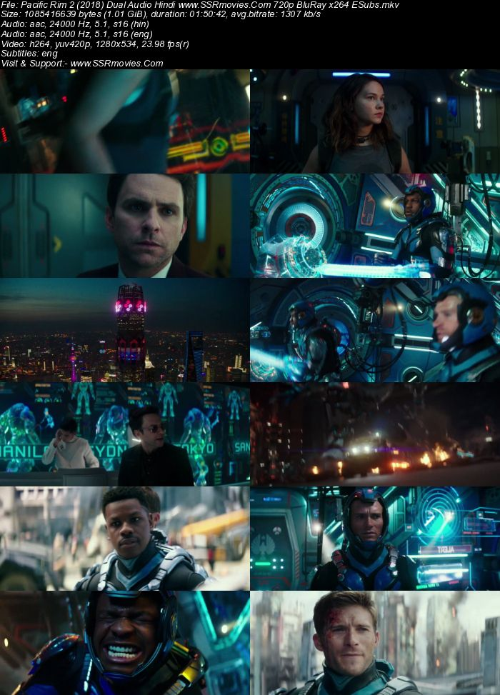 Pacific Rim 2 (2018) Dual Audio Hindi 720p BluRay x264 1GB ESubs Movie Download