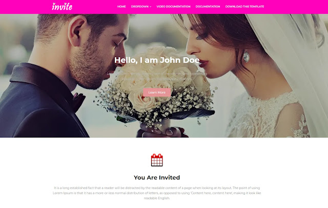 Invite Responsive Event Business Wedding Portfolio Blogger Template Theme