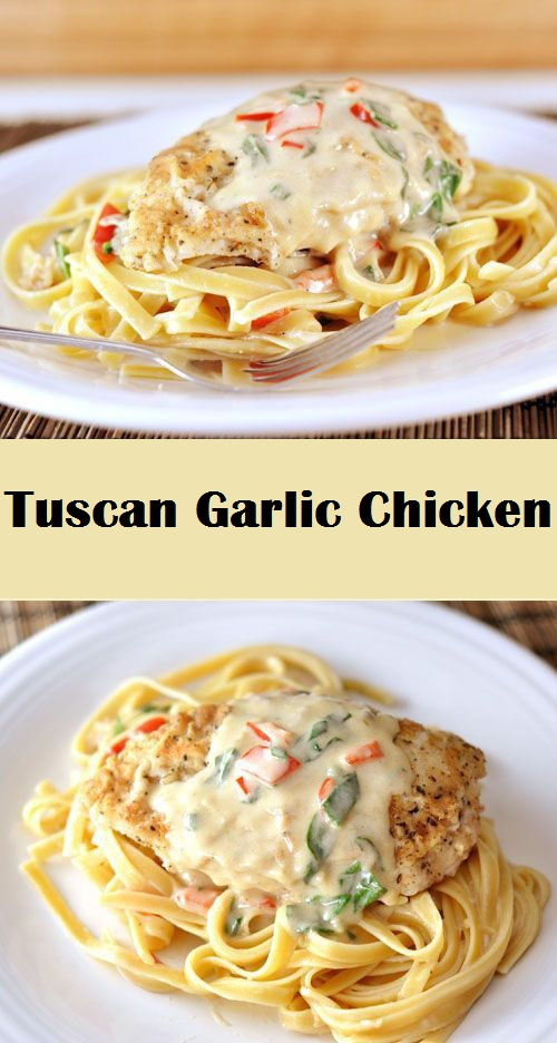 Tuscan Garlic Chicken Recipe