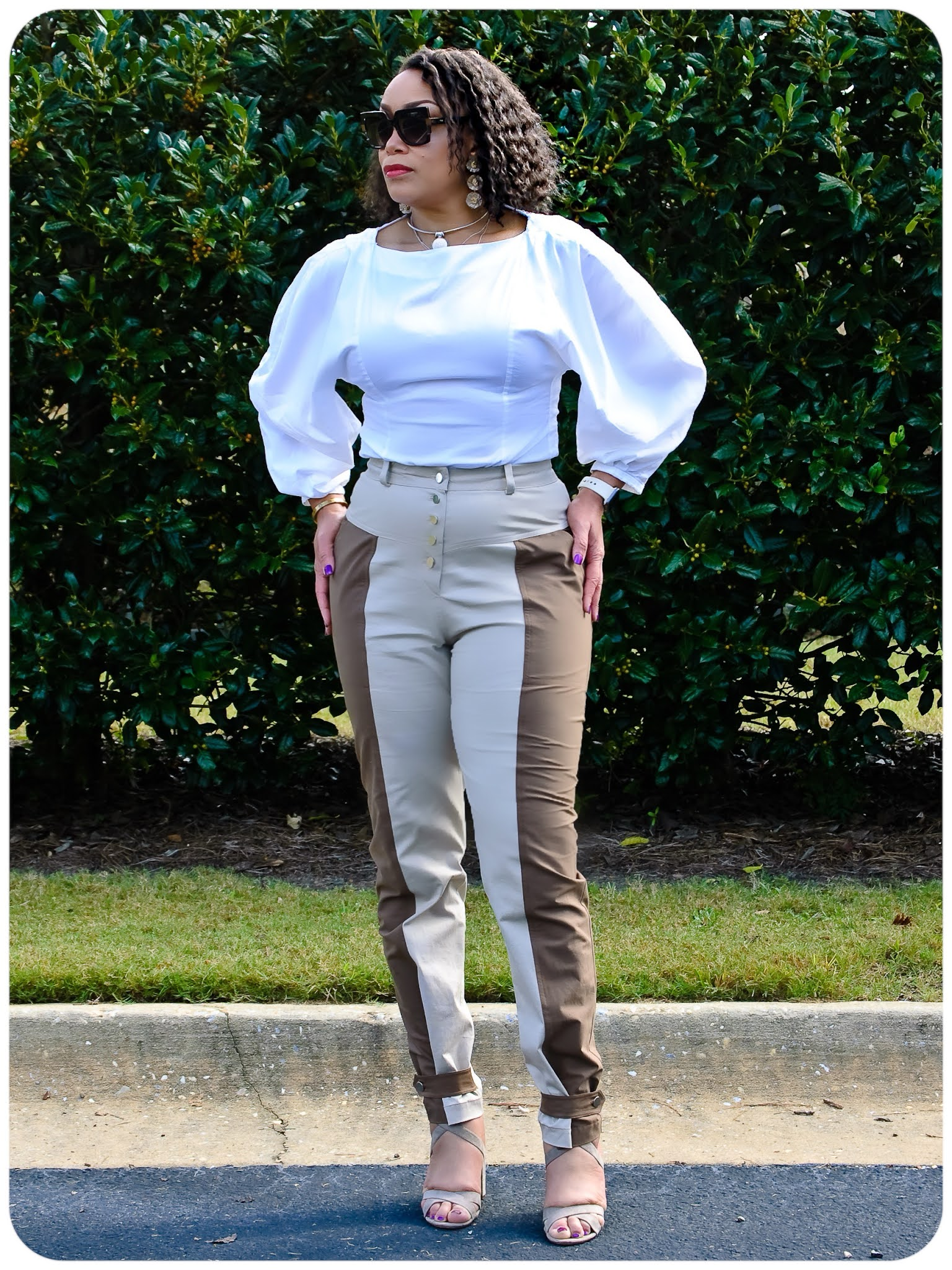 McCall's 8045 - Colorblock Tapered Utility Pants - Erica Bunker DIY Style!