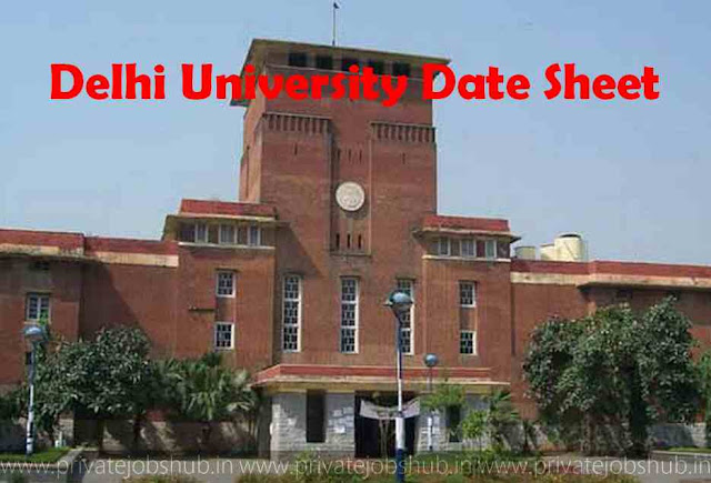 Delhi University Date Sheet