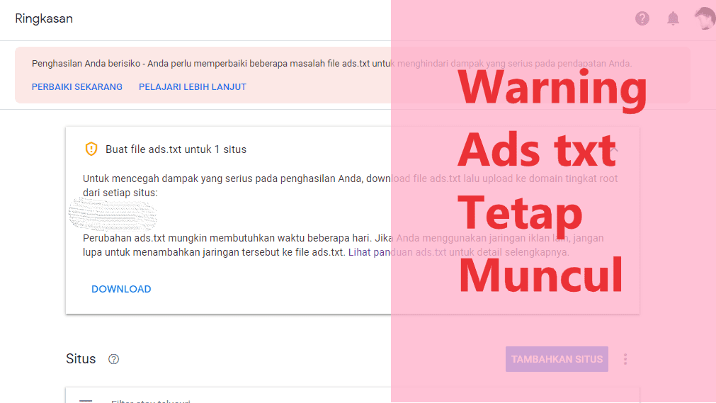 warning ads txt