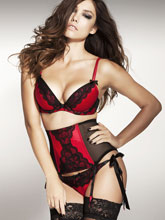 Helena Bra, Waspie & Side Tie Knickers by Ann Summers