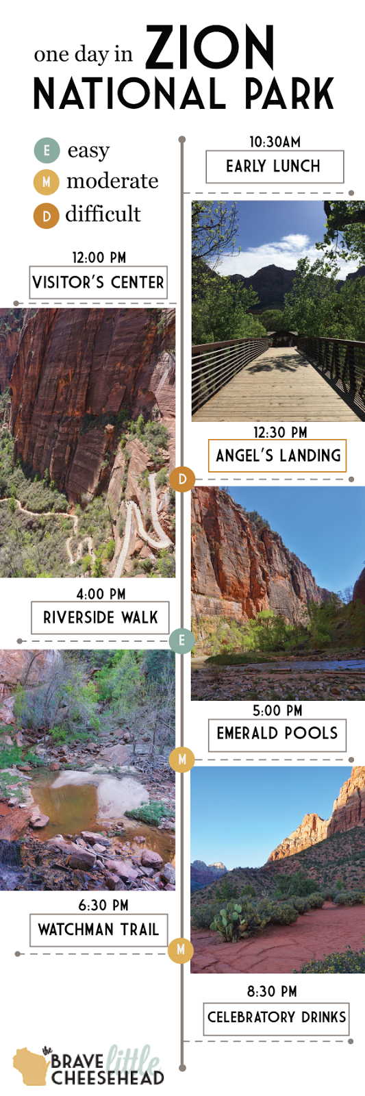 One Day at Zion National Park | The Brave Little Cheesehead