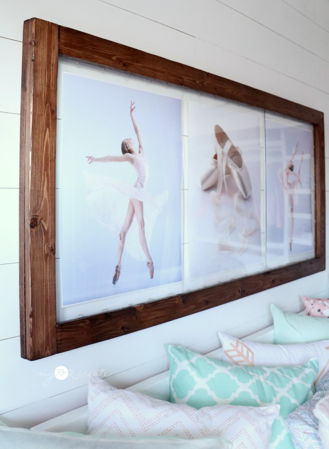 beautiful floating picture frame with hidden LED remote controlled lights