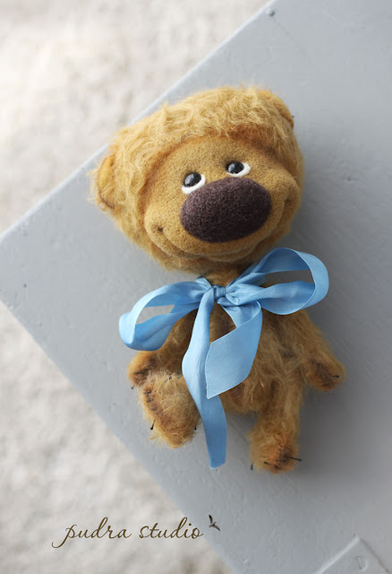 artist teddy bear for adoption