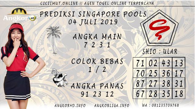 PREDIKSI SINGAPORE POOLS 04 JULI 2019
