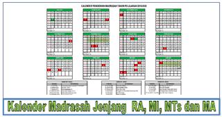 Kalender Pendidikan Madrasah (Kemenag) Tahun Pelajaran 2019/2020