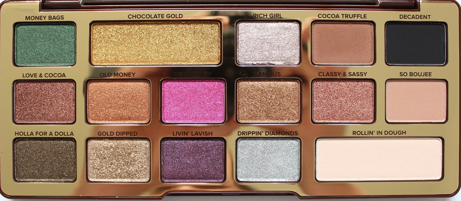 TOO FACED | Chocolate Gold Metallic/Matte Eyeshadow Palette - Review + Swatches - CassandraMyee