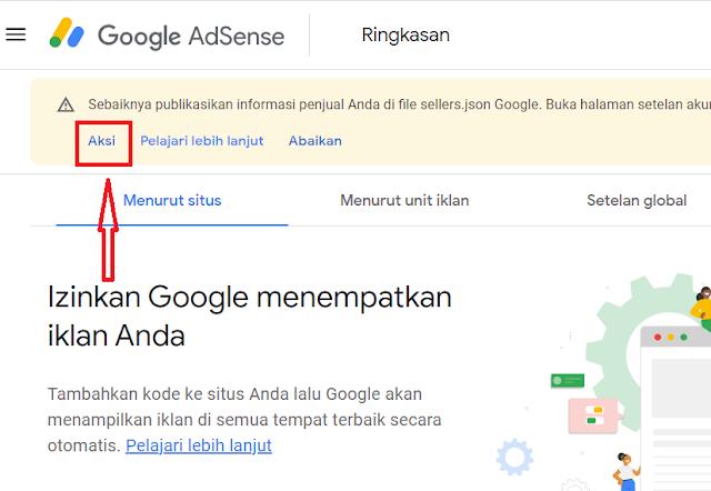 Informasi Penjual di file Seller.json Google