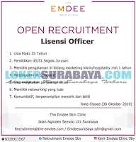 Open Recruitment Surabaya Terbaru di The Emdee Skin Clinic Oktober 2019