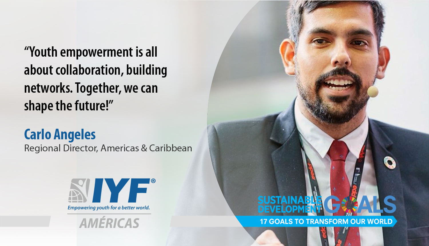 Carlo Angeles, IYF Regional Director for Asia and Pacific