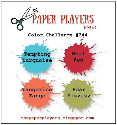 Stampin' up! Color Inspiration: Tempting Turquoise, Real Red, Tangerine Tango, Pear Pizzazz