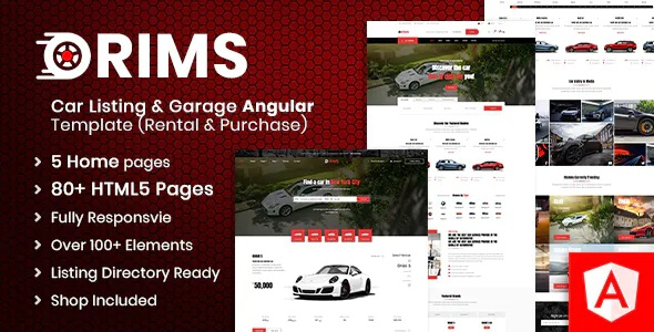 Car Service Angular Template