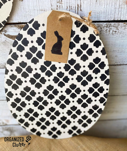 Photo of Easter egg cutout with leaf pattern