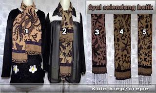 Jual syal selendang batik modern yang gaul style berkelas