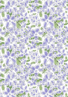 Periwinkle patterned background