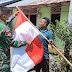 Meriahkan HUT RI, Satgas Yonif 512/QY Merah Putihkan Ujung Timur Indonesia.