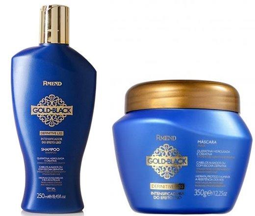Shampoo e Máscara Gold Black Amend