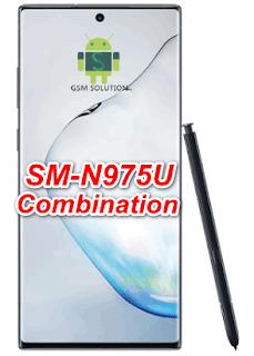Samsung Note 10 Plus SM-N975U Pie U2 Combination Firmware