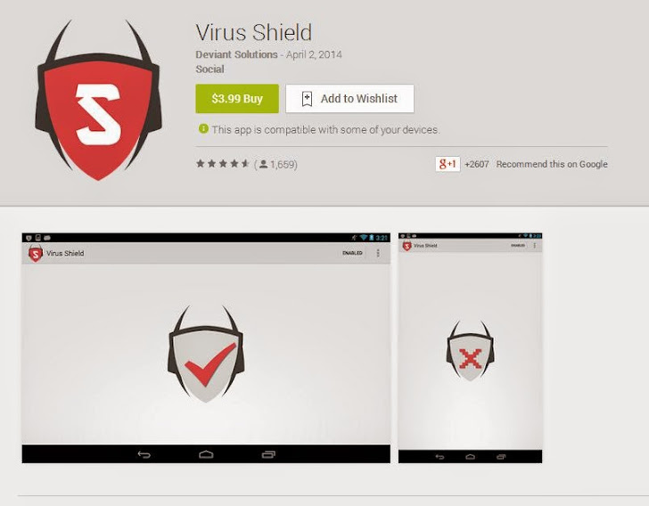 VIRUS SHIELD ANTIVIRUS FOR ANDROID GOOGLE PLAY STORE