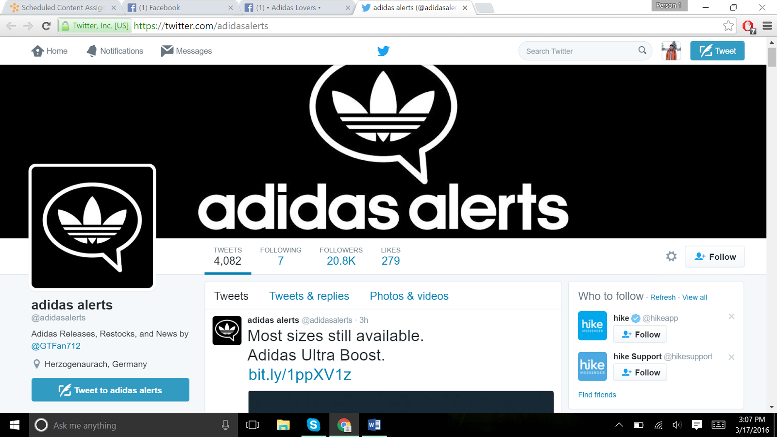 The fan page also promotes its own website where they sell different types  of Adidas shoes. The posts have images attached with them and links to the  ... 2998f98aaa192