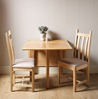 Small folding wooden dining table