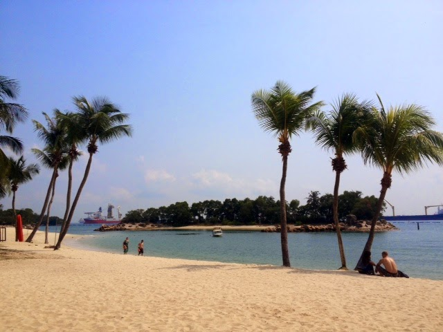 sunny beach on Sentosa Island, Singapore
