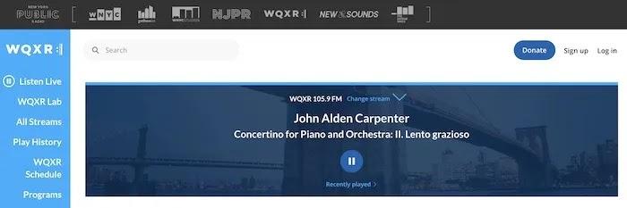 محطات راديو ويب مفيدة Wqxr Newyork
