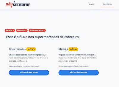 aglo%2Bb MONTEIRO: Jovens criam aplicativo para enfrentar quarentena com fluxo de pessoas nos comércios do Cariri